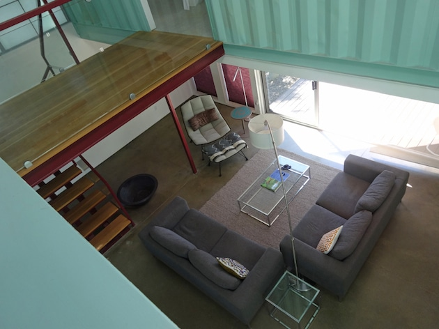 Six unit sustainable shipping container house 4