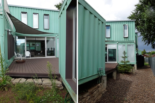 Six unit sustainable shipping container house 8