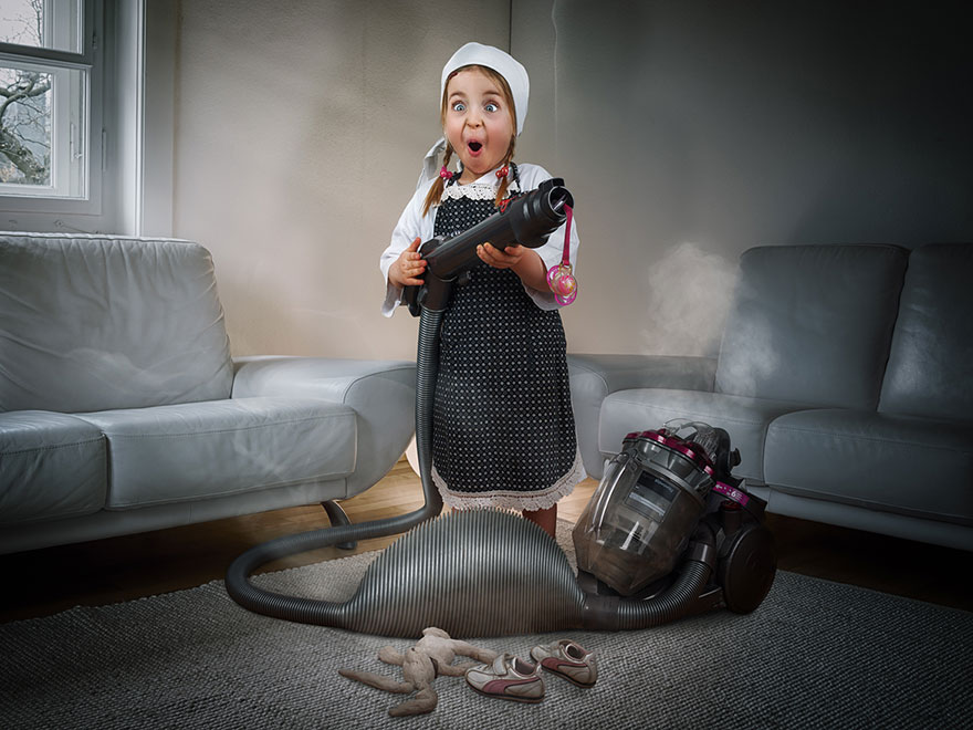 Creative dad children photo manipulations john wilhelm 10