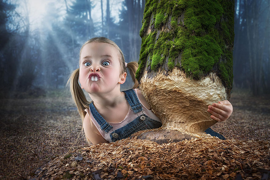Creative dad children photo manipulations john wilhelm 16