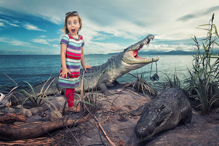 Creative dad children photo manipulations john wilhelm 2