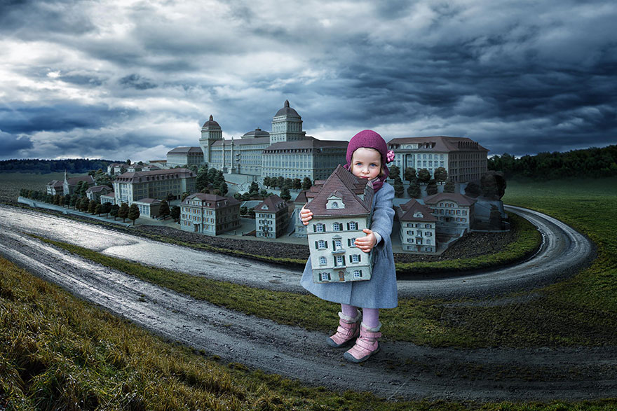 Creative dad children photo manipulations john wilhelm 3