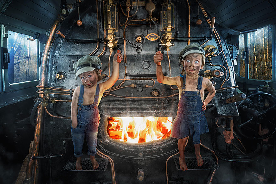 Creative dad children photo manipulations john wilhelm 4