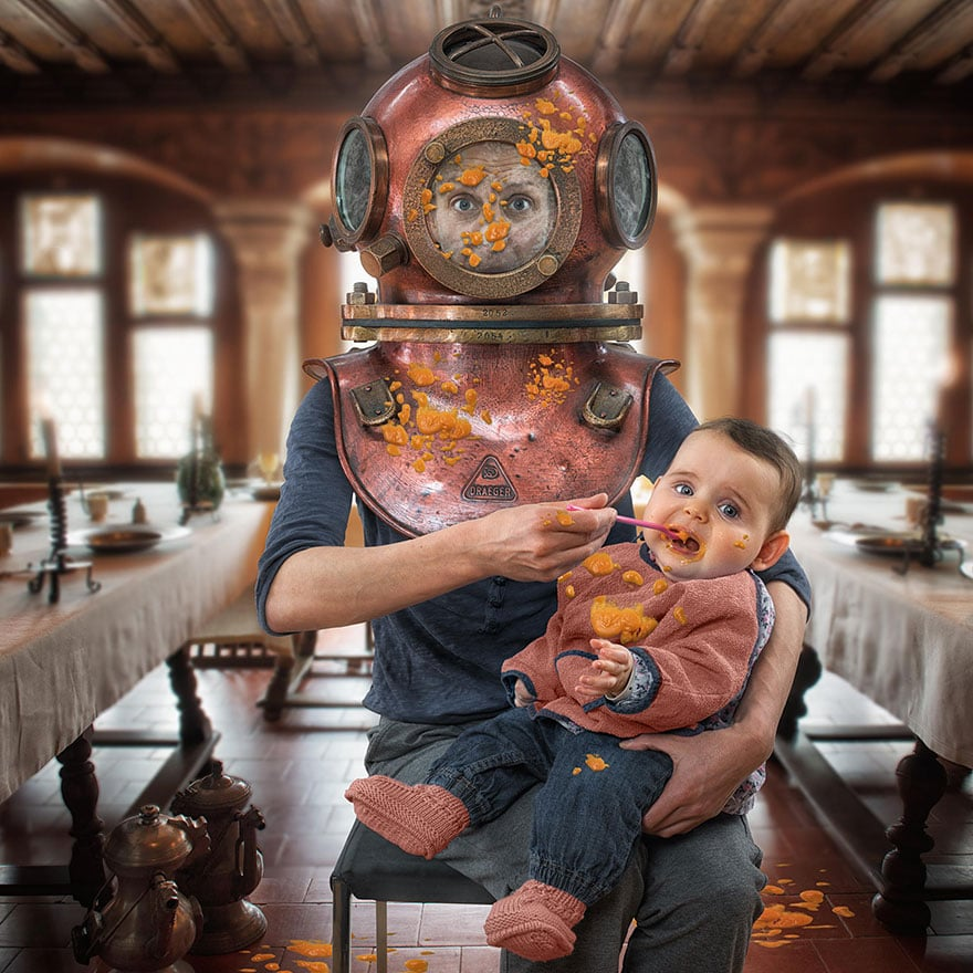Creative dad children photo manipulations john wilhelm 7
