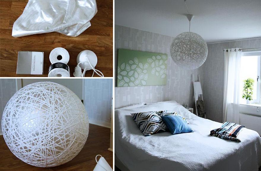 21 lampes et chandeliers faits la main que vous pouvez cr er partir d 39 objets de tous les jours. Black Bedroom Furniture Sets. Home Design Ideas