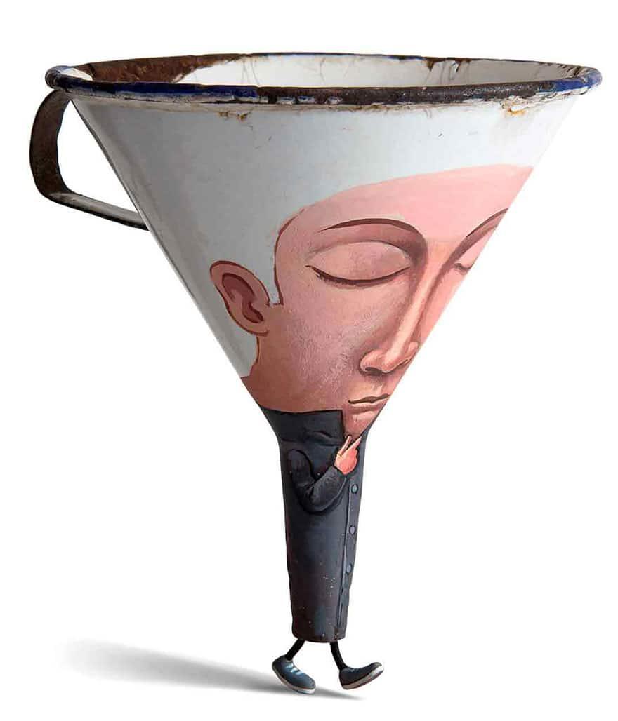 Everyday object sculptures gilbert legrand 4