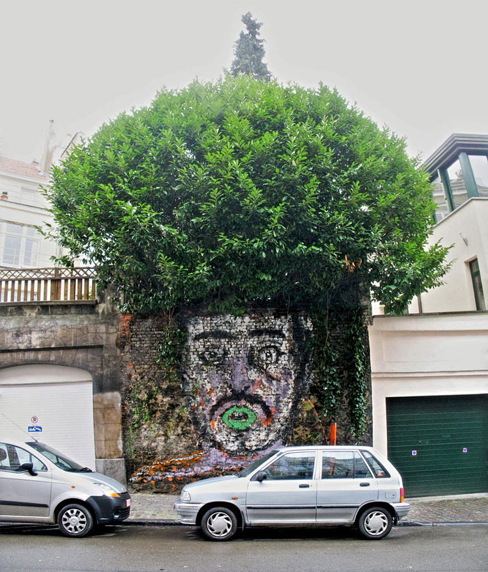 Street art interacts with nature 20