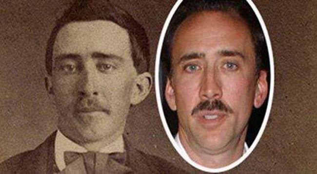 Celebrities and their historical look alikes i am certain nicolas cage is a time traveler 24 934x