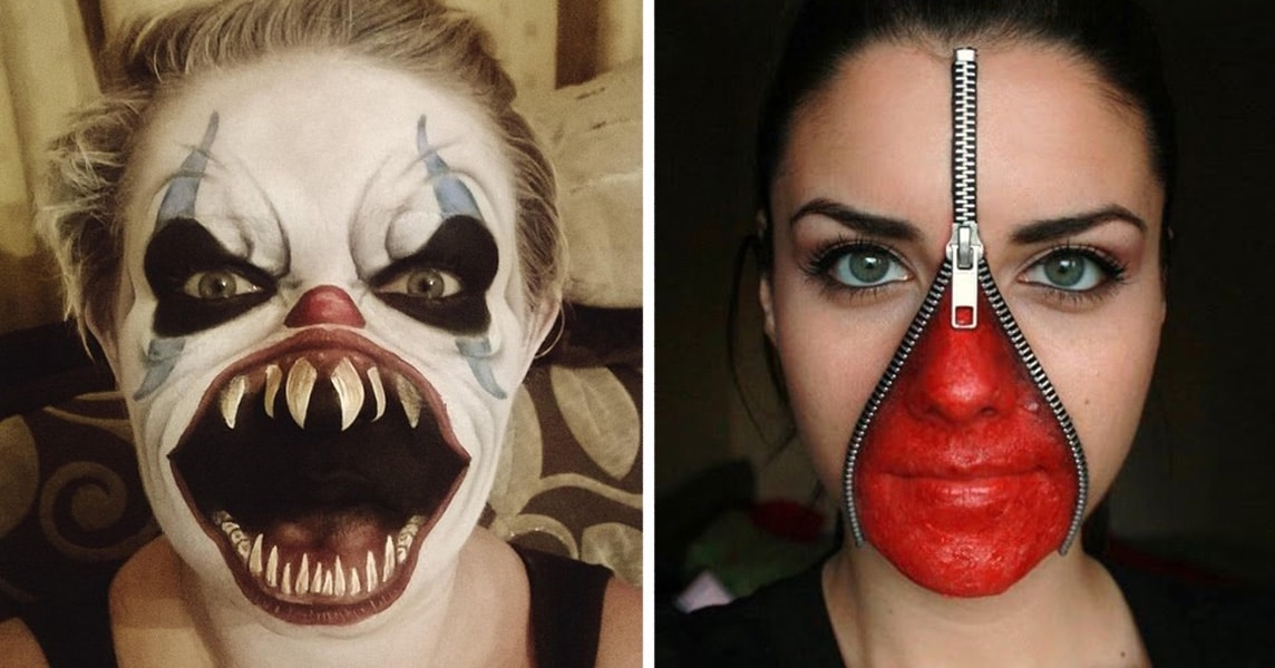 Top 20 des maquillages les plus terrifiants pour halloween - Maquillage chat femme ...
