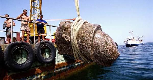 Découverte de la cité égyptienne de Thonis-Héra sous l'océan