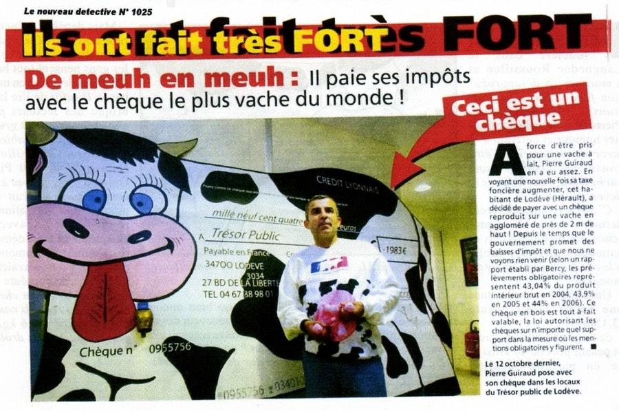cheque vache
