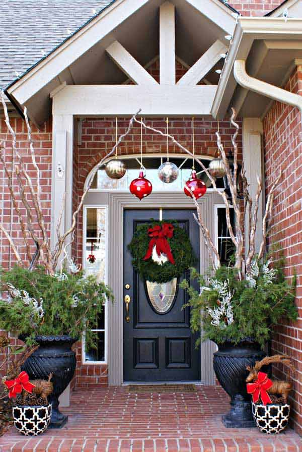 40 Décorations De Porte Originales à Faire Vous Mêmes Pour Noël