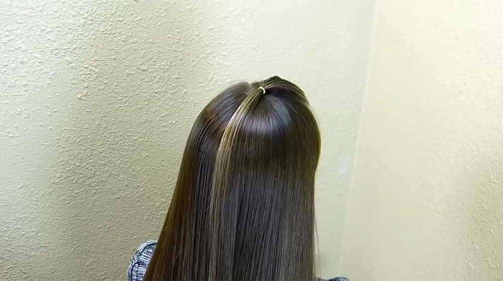 coiffure sapin de noel 2