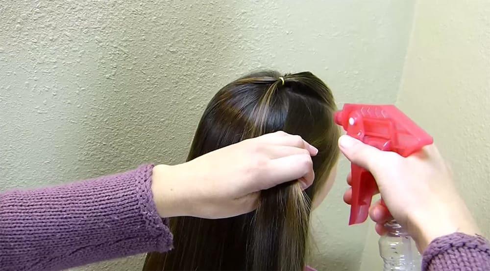 coiffure sapin de noel 4