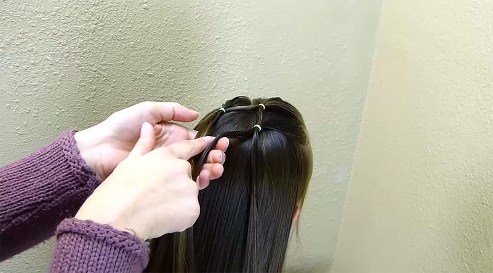 coiffure sapin de noel 8