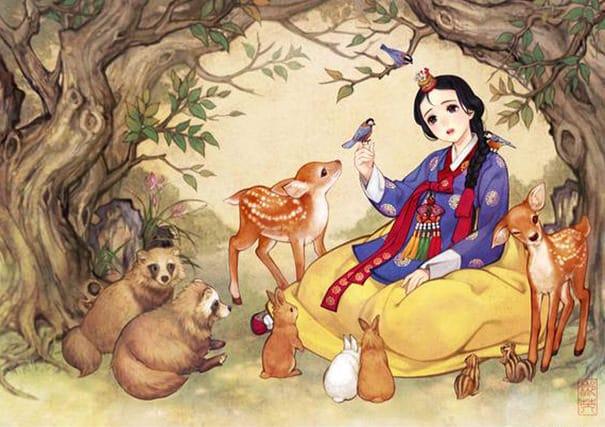 Illustration Conte De Fée et si vos contes de fée préférés avaient été faits en asie? voila ce