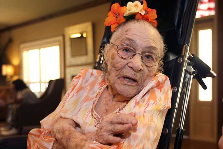 Femme centenaire 5