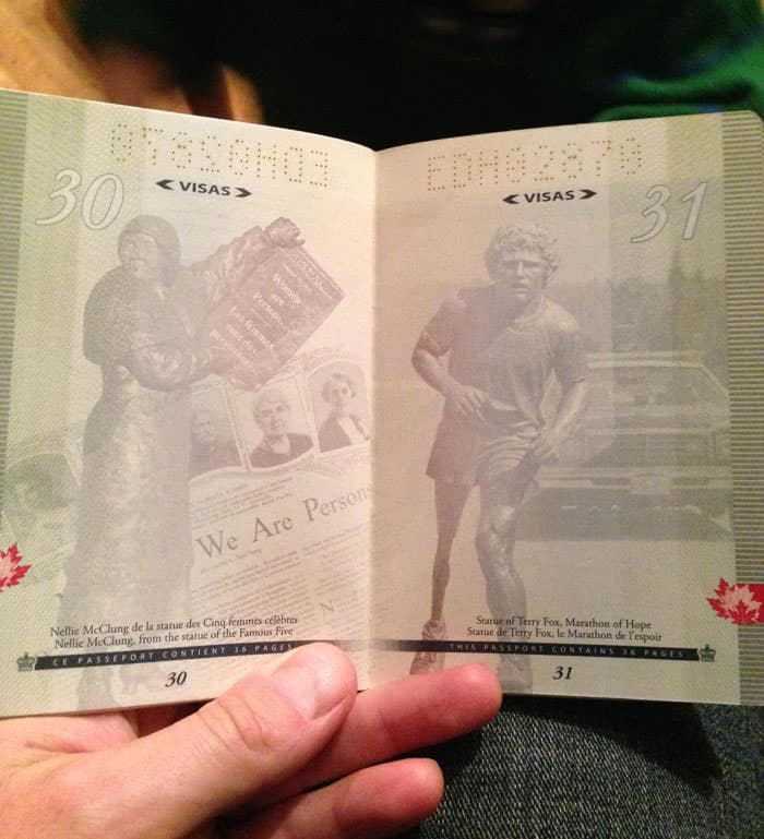 Passeport canadien 12