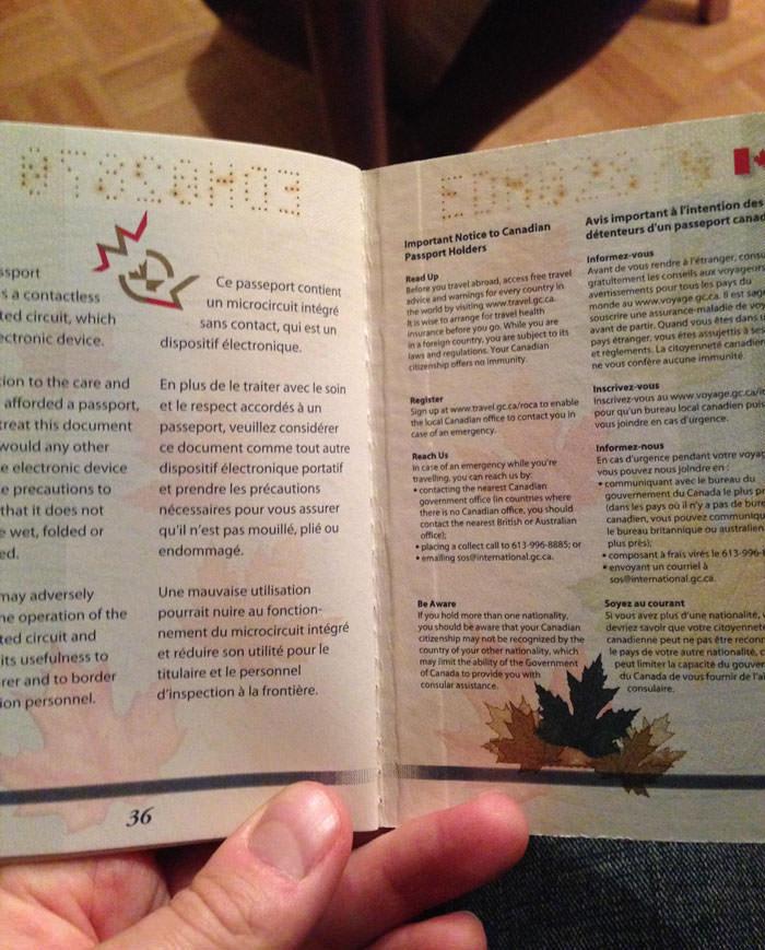 Passeport canadien 16