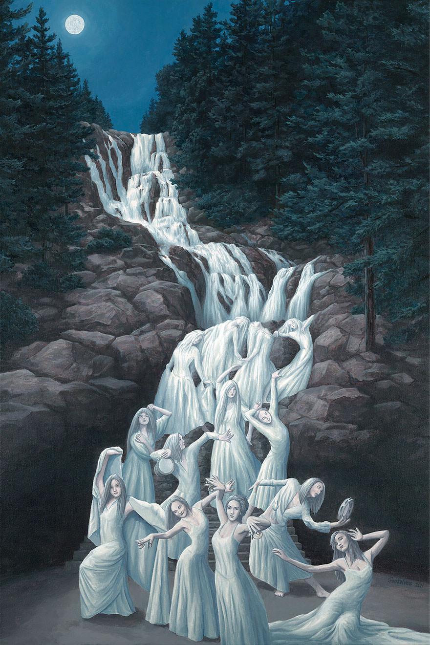 25 peintures aux illusions d optique vous retourner le for Illusion d optique peinture