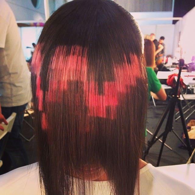 Cheveux pixelises