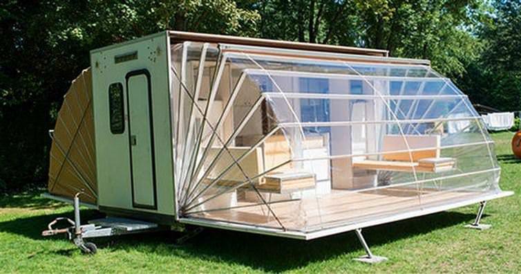 Populaire Vu de l'Extérieur, ce Mobile Home semble Classique, mais une fois  KC39
