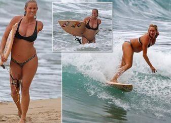 Surfeuse enceinte