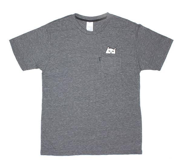 T shirt poche chat 2