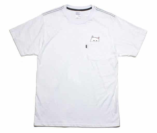 T shirt poche chat 4