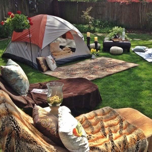 31 id es g niales pour bricoler dans votre jardin cet t je vais clairemen - Camping dans son jardin ...