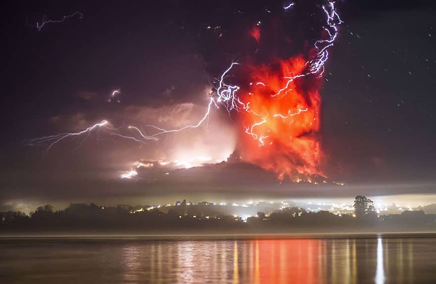 Eruption volcan calbuco 1
