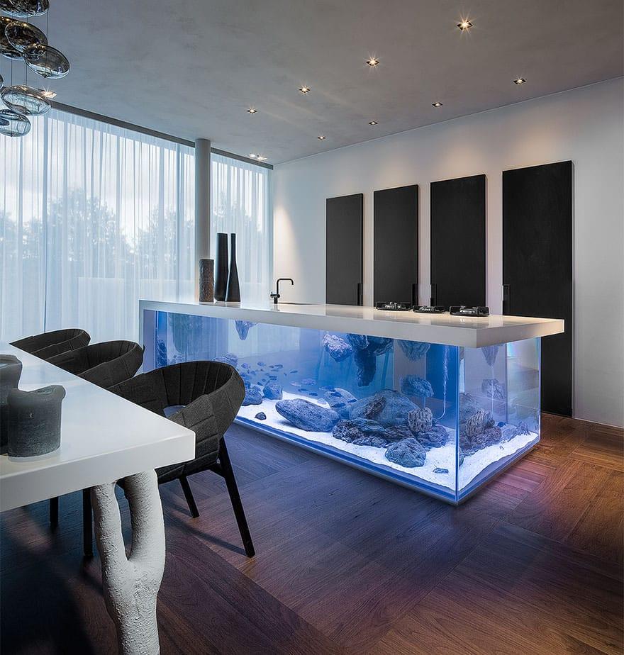 ilot de cuisine aquarium 1