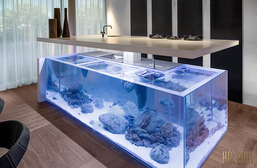 Ilot de cuisine aquarium 2