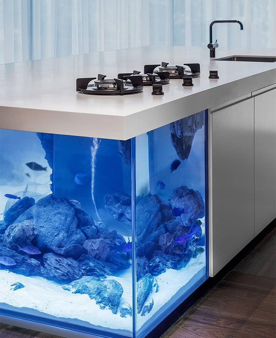 Ilot de cuisine aquarium 3