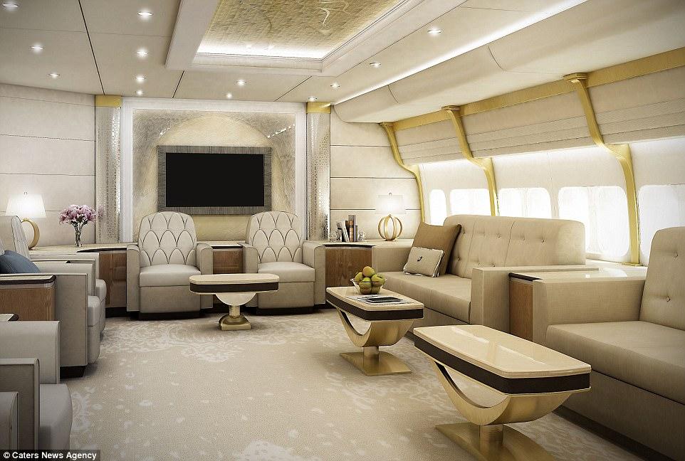 Bienvenue à bord d'un avion sur-mesure, résidence de luxe