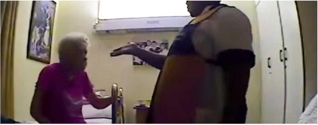 une cam ra cach e surprend une aide soignante en train de maltraiter une femme de 84 ans. Black Bedroom Furniture Sets. Home Design Ideas