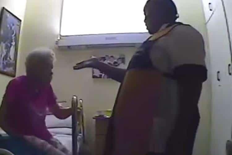 Une cam ra cach e surprend une aide soignante en train de for Aide soignante dans une maison de retraite