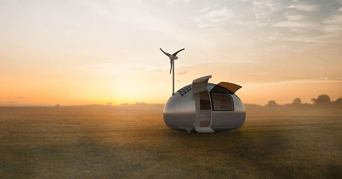 une mini maison fonctionnant aux nergies solaires et oliennes et qui vous permet de vivre. Black Bedroom Furniture Sets. Home Design Ideas