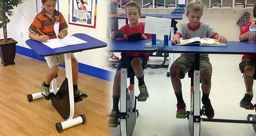 Une école au Canada instaure des pupitres-vélos