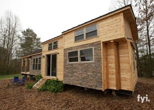 Je trouvais cette petite maison de 37 m superbe mais une fois l 39 int rieur wow - Petites maisons en bois ...