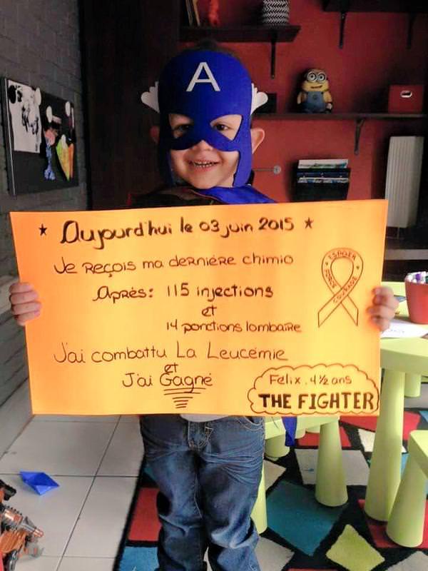 Felix le superheros contre la leucemie