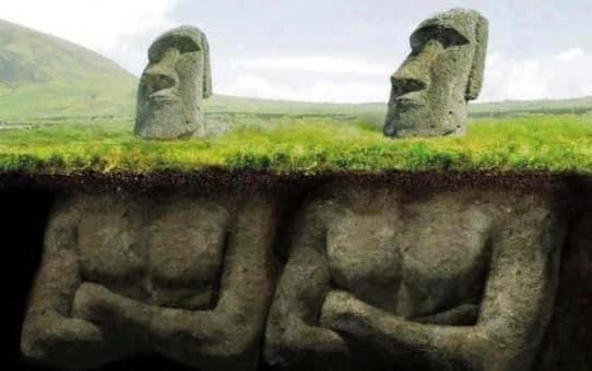 Inouï ! Île de Pâques, les statues possèdent des corps enfouis !!! 528