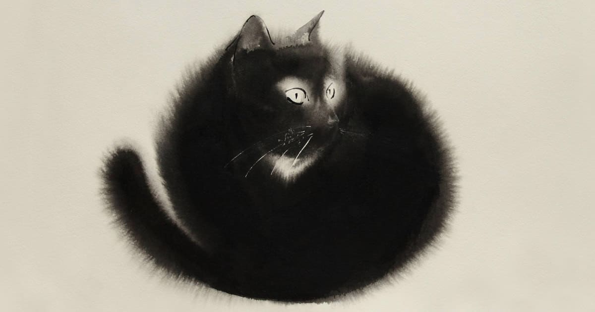 Watercolor cats ink paitings endre penovac fb