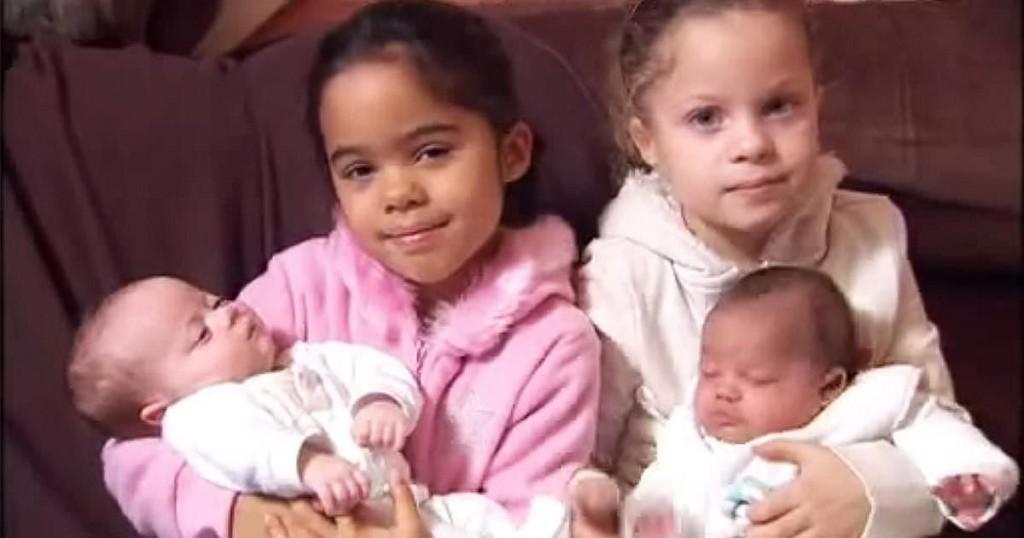ces 4 filles sont les soeurs les plus rares du monde et. Black Bedroom Furniture Sets. Home Design Ideas