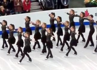 Ice skating team canada