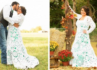 121415 bride crocheted her own wedding dress featured