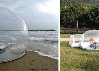 Cette tente bulle transparente vous f