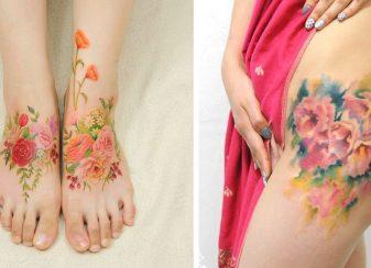 Des tatouages de fleur qui f