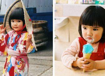 La fille de 4 ans f