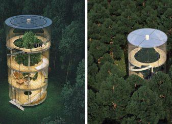 Une maison tubulaire stupéfiante construite f